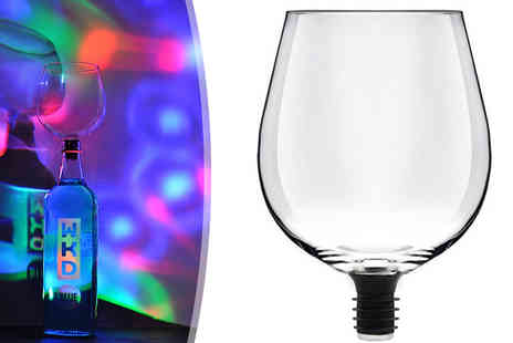 Internet Shop - Drink From The Bottle Novelty Wine Glass - Save 53%