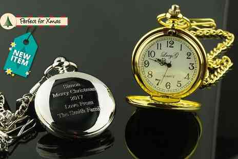 Aspire - Personalised pocket watch choose from two colours - Save 73%