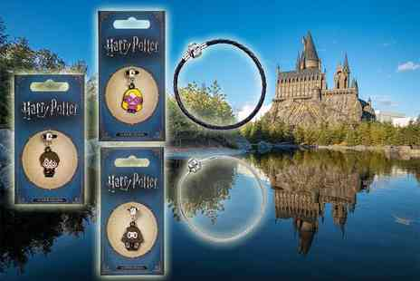 Aspire - Harry Potter charm or charm and bracelet available in silver or leather styles - Save 58%