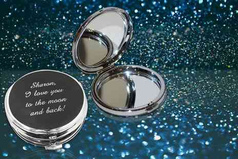 Aspire - Personalised silver plated compact mirror - Save 77%