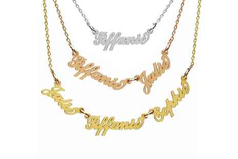 Jewells House - One, Two or Three Name Carrie Style Necklace With Free Delivery - Save 73%