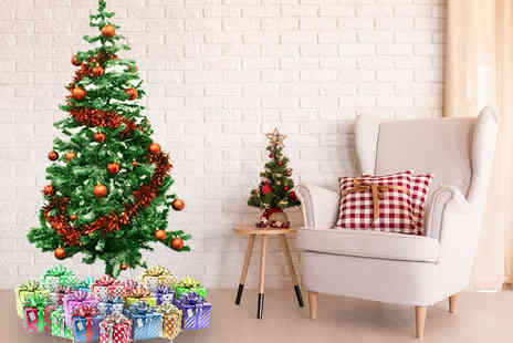 Grids London - 6ft extra thick tipped Christmas tree - Save 73%