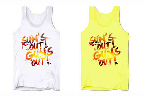 BangTidyclothing - Suns Out Guns Out Mens Summer Top in 4 Colours - Save 50%