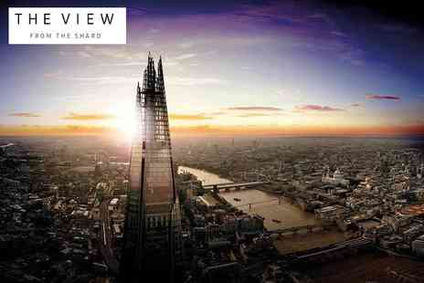 The View from The Shard - Entry to The View From The Shard Levels 69 and 72 for one or to include tickets to the Virtual Reality experience include a glass of Champagne - Save 35%