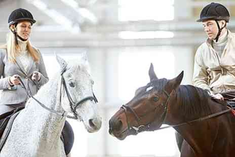 The Cabin Equestrian Centre - One Hour Long Horse Riding Lesson - Save 52%