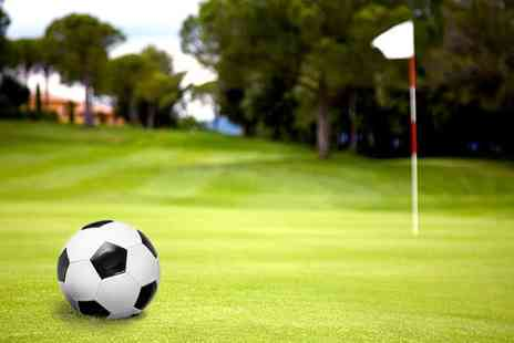 Tonbridge golf centre - 18 Holes of Footgolf with Ball Hire and Hot Drink for Two, Four or Six - Save 0%
