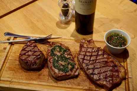 Comedor Grill & Bar - Argentine Steak Tasting Board with Sides, Sauce and Wine for Two or Four - Save 36%