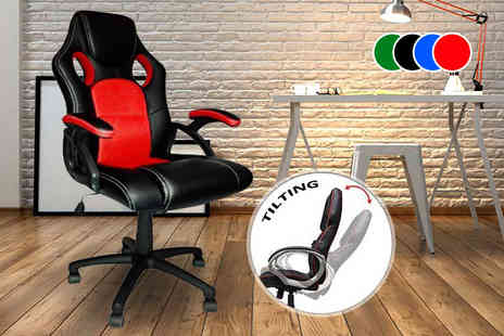 Home Empire - Racing style office chair choose from four colours - Save 65%