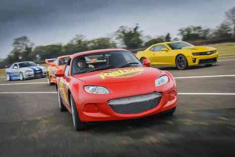 Car Chase Heroes - Three lap junior driving experience in a Lightning McQueen style Mazda Mx5 from Car Chase Heroes - Save 51%