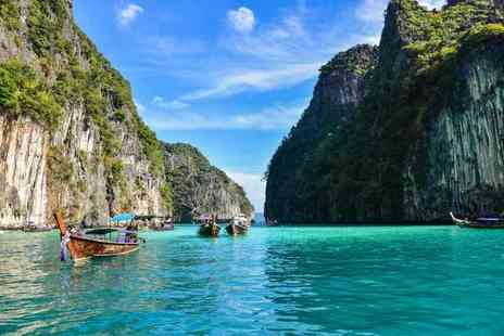 Great Pacific Travels - Ten night Bangkok, Phuket & Phi Phi Island trip with breakfast, ferry transfer, flights or pay - Save 21%