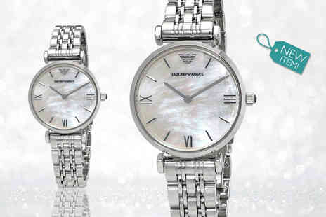 Gray Kingdom - Ladies emporio armani mother of pearl dial ar1682 watch - Save 55%