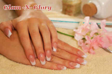 Glam N Glory Nail Bar - Full set of acrylic nails with OPI polish or gel nail overlays - Save 55%