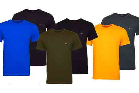 Groupon Goods Global GmbH - One or Two Packs of Emporio Armani Tshirts - Save 0%