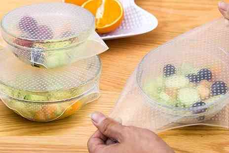 Pearl Info - Reusable silicone food covers get four, eight or twelve - Save 75%