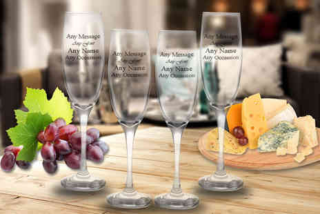 CNC Group - Set of personalised engraved Prosecco glasses - Save 65%