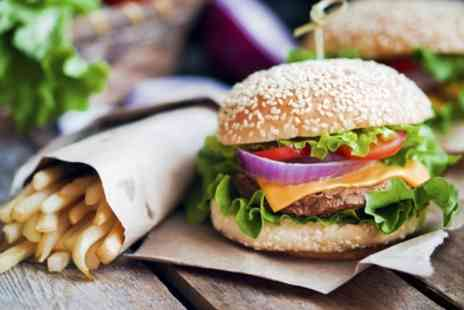 Soho Bar and Eatery - Choice of Burger with Fries and Soft Drink for Up to Four - Save 40%