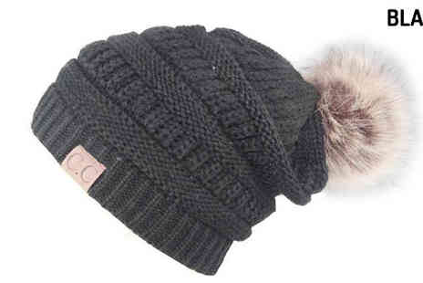 Best mall ever - Knitted Double Layer Pom Pom Hat Choose 8 Colours - Save 68%