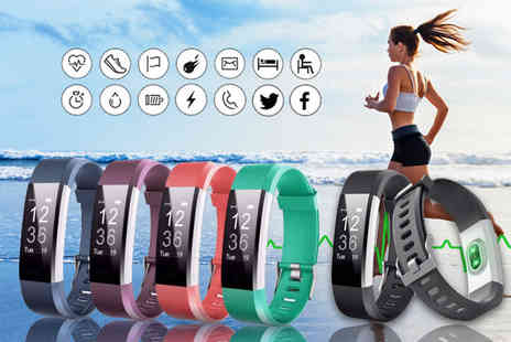 HXT Goods - 14 in 1 fitness tracker with heart rate monitor - Save 85%