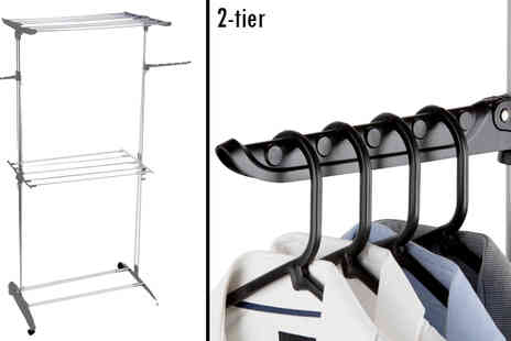 Giddy Aunt - 2 Tier Folding Tower Clothes Airer - Save 62%