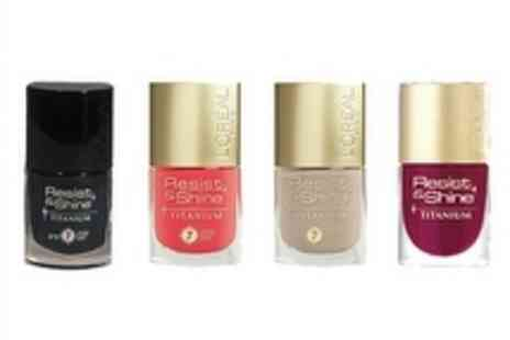 L Oreal - Four Piece LOreal Resist and Shine Nail Polish including Free Delivery - Save 60%