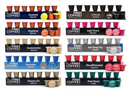 Fine Coffee Club - 100 Nespresso compatible tea and coffee capsules - Save 32%