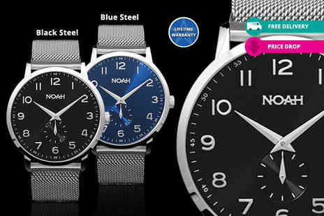 Kendor Van Noah - Slimline watch choose from four designs Plus Delivery is Included - Save 79%
