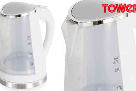 Giddy Aunt - Tower Led Colour Changing Kettle T10012W - Save 53%