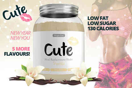 Cute Nutrition - 500g of meal replacement shake or 1500g of meal replacement shake choose from five flavours - Save 67%
