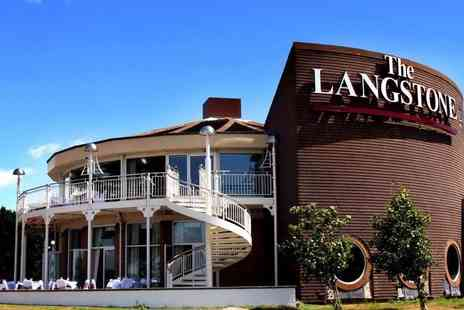 The Langstone Hotel - One, two or three night stay for two with breakfast and leisure access - Save 0%