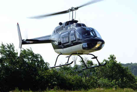 Whizzard Helicopters - Eight mile helicopter buzz flight with Whizzard Helicopters choose from four locations - Save 48%