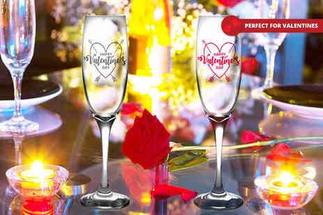 CNC Group - Valentines Day personalised champagne flute - Save 54%