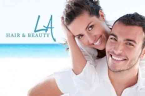 LA Hair and Beauty - Laser Teeth Whitening For Two - Save 75%