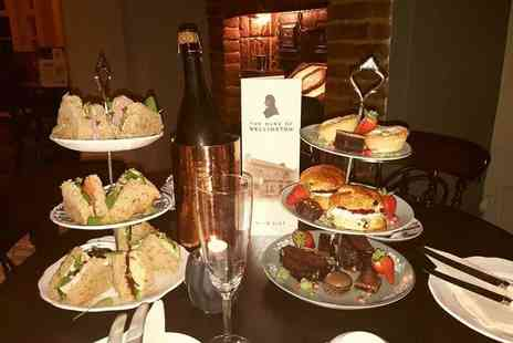 The Duke Of Wellington - Afternoon tea for two with a glass of Prosecco each - Save 34%