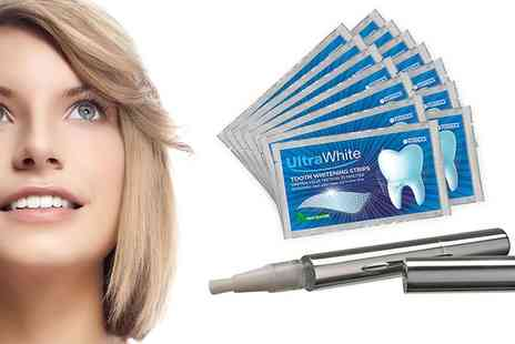 Groupon Goods Global GmbH - Up to Three Packs of Teeth Whitening Strips, Pens or Both - Save 90%