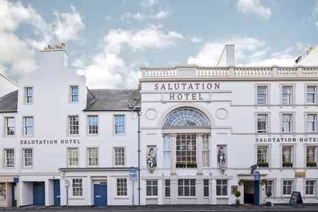 The Salutation Hotel - One or Two Nights Stay for Two with Breakfast, Dinner, Fizz, Whisky Tour, and Late Check Out - Save 62%