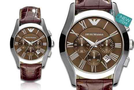 Wristy Business - Gents classic brown emporio armani ar0671  watch - Save 47%