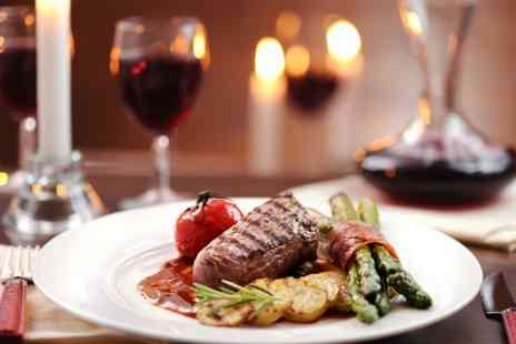 King George V - Sirloin Steak with Wine or Beer for Two or Four - Save 46%