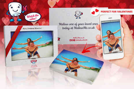Now Slim - Personalised jumbo marshmallow gift transform your favourite photo - Save 69%