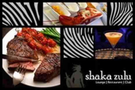Shaka Zulu - Lobster and Steak With Champagne Cocktail For Four - Save 63%