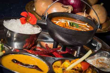 Yukti Indian Street Fusion - Two Course Indian Fusion Meal with Wine for Two or Four - Save 46%