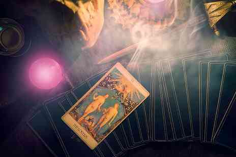 Psychic Past Present Future - Love reading via phone using tarot cards, spiritual vibrations and more - Save 75%