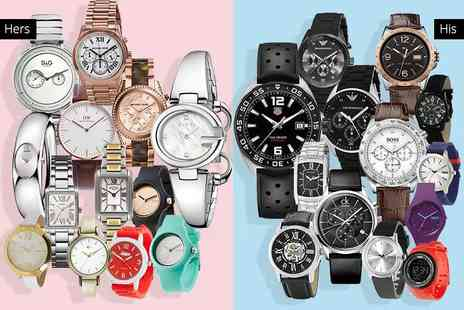 Brand Arena - Mystery watch deal for him or her from Tag Heuer, Gucci, Michael Kors, Dolce & Gabbana, Armani, Hugo Boss, Guess, Daniel Wellington, Calvin Klein, Breo and more - Save 0%