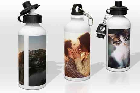 Printerpix - Up to Three Personalised Water Bottles - Save 58%