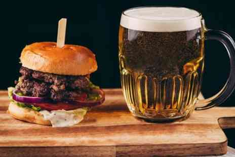 The Cow Shed - Choice of Burger with Pint of Beer or Glass of Prosecco for One or Two - Save 45%
