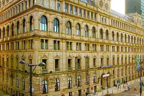 Britannia Hotel Manchester - One Nights for Two with Breakfast, a Bottle of Wine and Option for Dinner - Save 0%