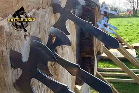 Battle Archery - Axe throwing experience for one or two - Save 46%
