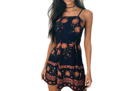 Verso Fashion - Bohemian Style Floral Sundress - Save 64%