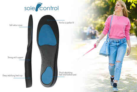 Sole Control - Pair of arch supporting full length insoles - Save 82%