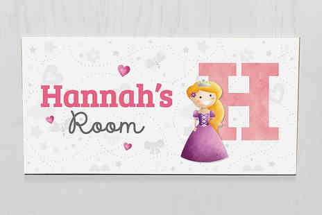 Frame My Name - Kids personalised door sign - Save 29%