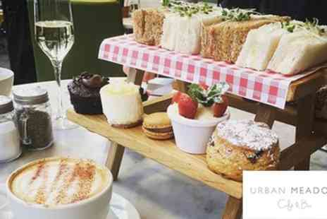 Urban Meadow Cafe - Afternoon Tea with Bottle of Prosecco for Two - Save 57%